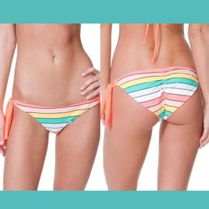 NWT Rip Curl Beach Chicks Stripe Reversible Bikini